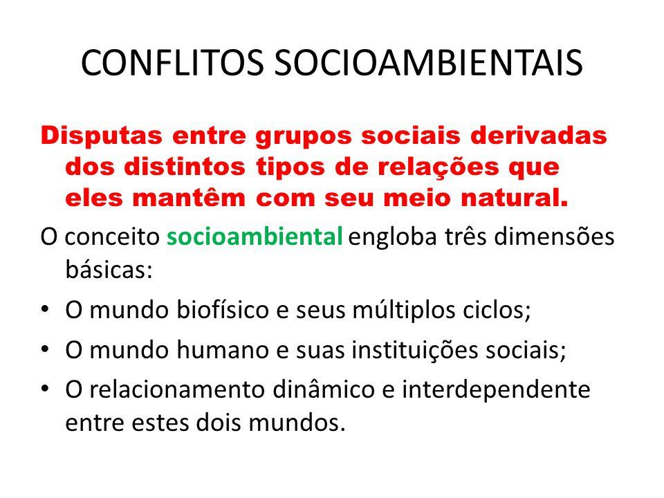 CONFLITOS SOCIOAMBIENTAIS