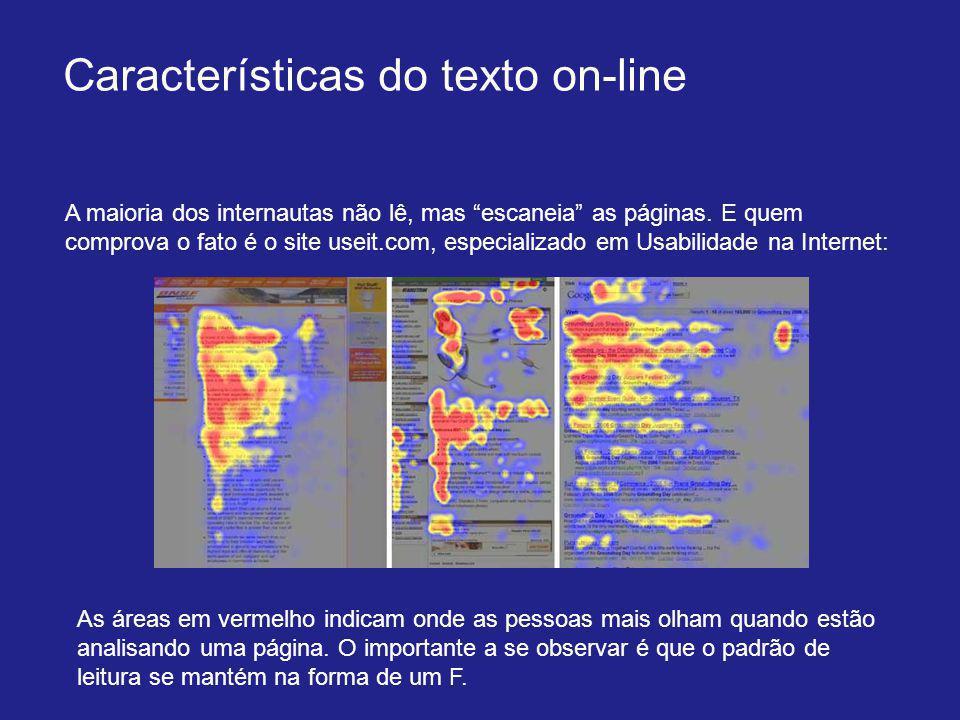 Características do texto on-line
