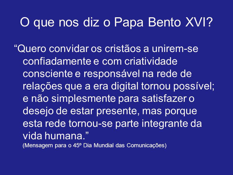 O que nos diz o Papa Bento XVI