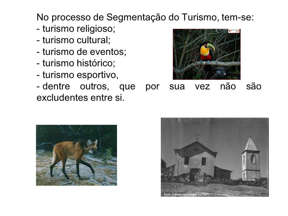 No processo de Segmentação do Turismo, tem-se: