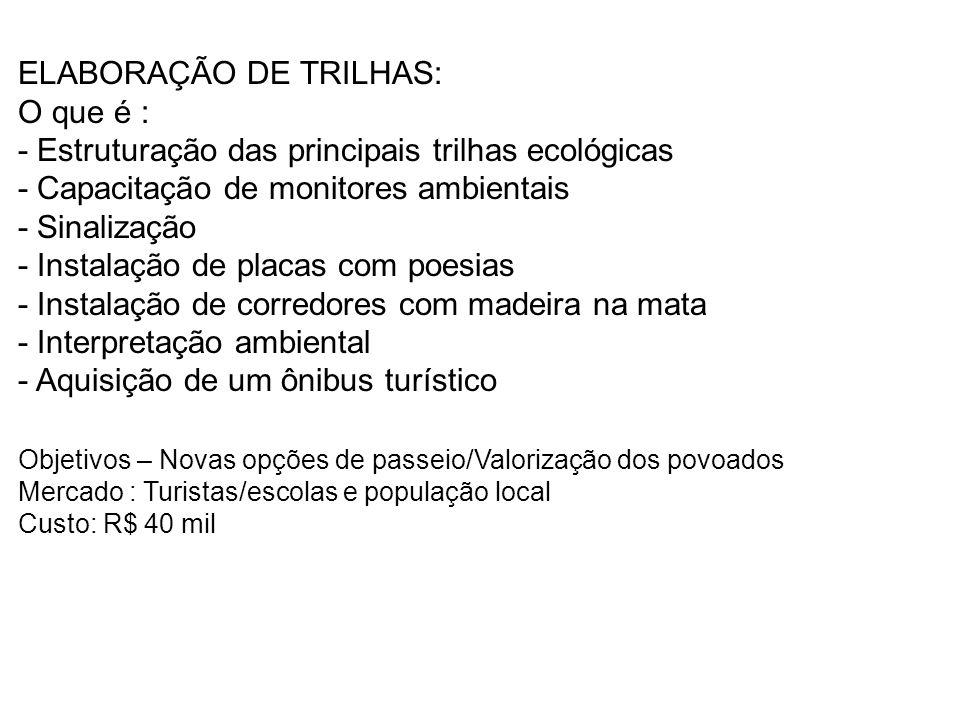 ELABORAÇÃO DE TRILHAS:
