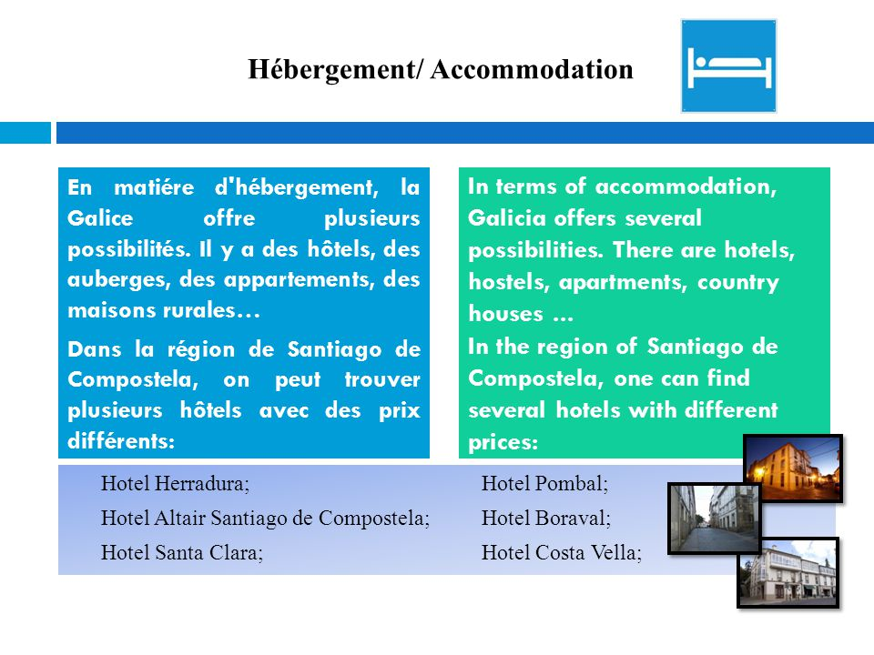 Hébergement/ Accommodation