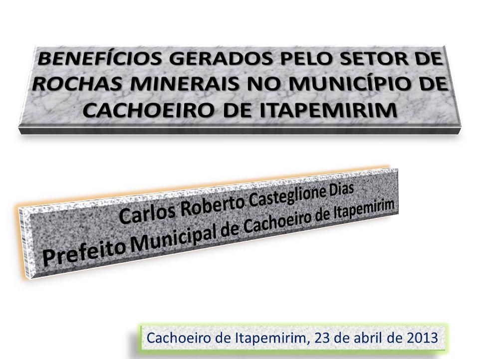 BENEFÍCIOS GERADOS PELO SETOR DE ROCHAS MINERAIS NO MUNICÍPIO DE CACHOEIRO DE ITAPEMIRIM
