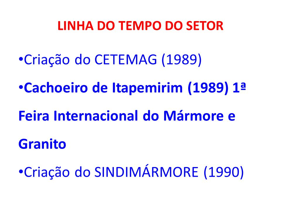 Criação do SINDIMÁRMORE (1990)