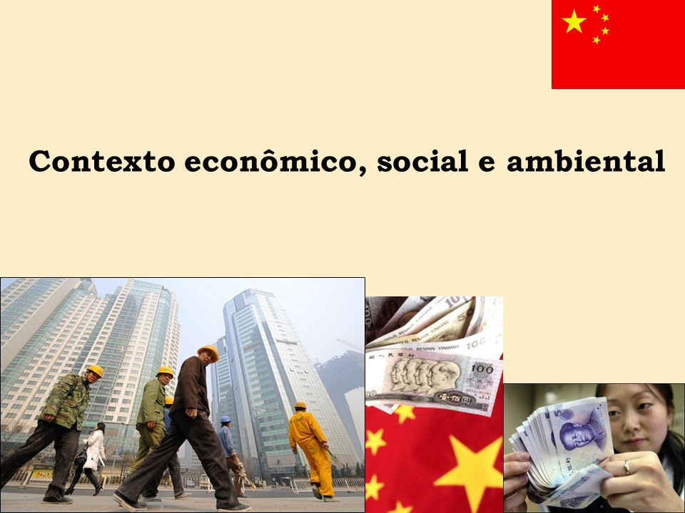 Contexto econômico, social e ambiental