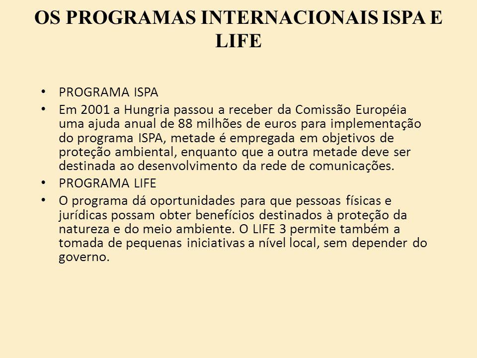 OS PROGRAMAS INTERNACIONAIS ISPA E LIFE