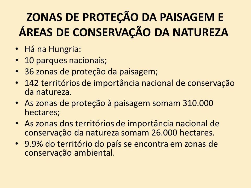 ZONAS DE PROTEÇÃO DA PAISAGEM E ÁREAS DE CONSERVAÇÃO DA NATUREZA