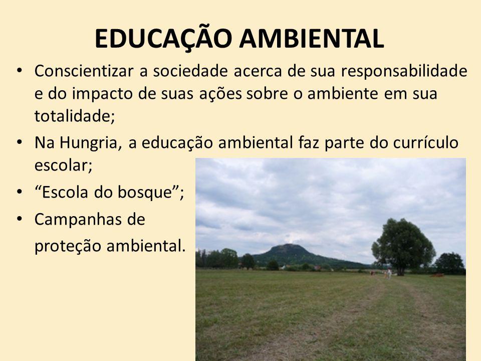 EDUCAÇÃO AMBIENTAL Conscientizar a sociedade acerca de sua responsabilidade e do impacto de suas ações sobre o ambiente em sua totalidade;