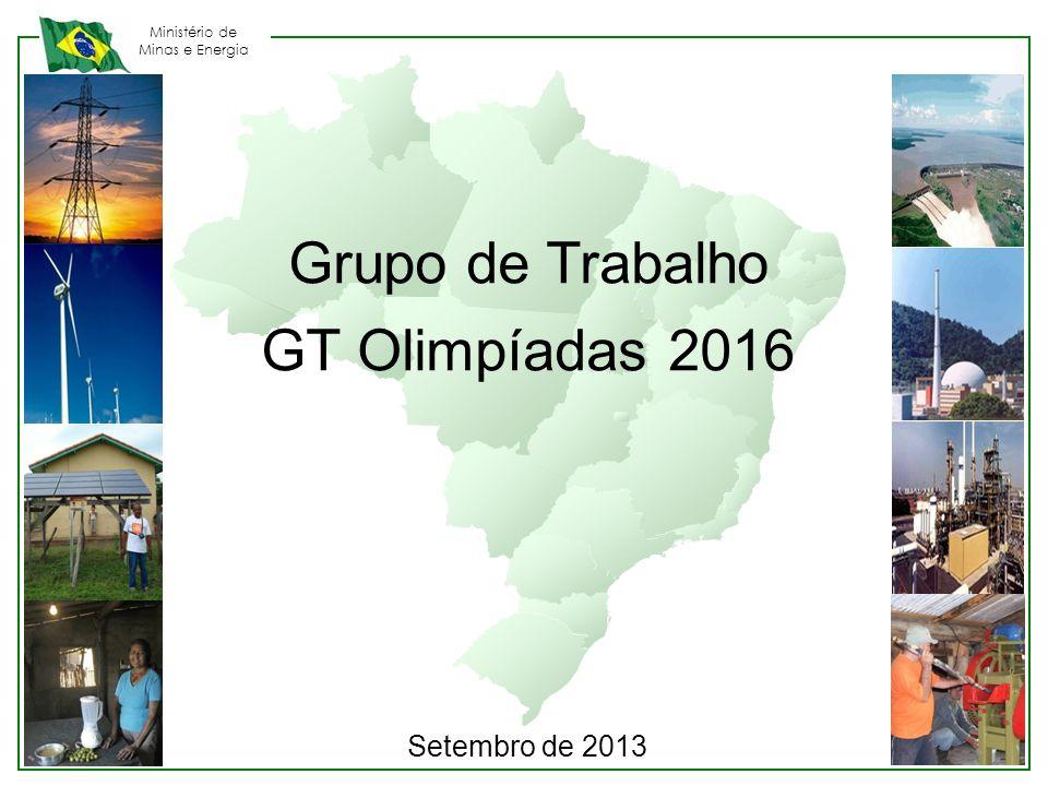 Grupo de Trabalho GT Olimpíadas 2016 Setembro de 2013 23