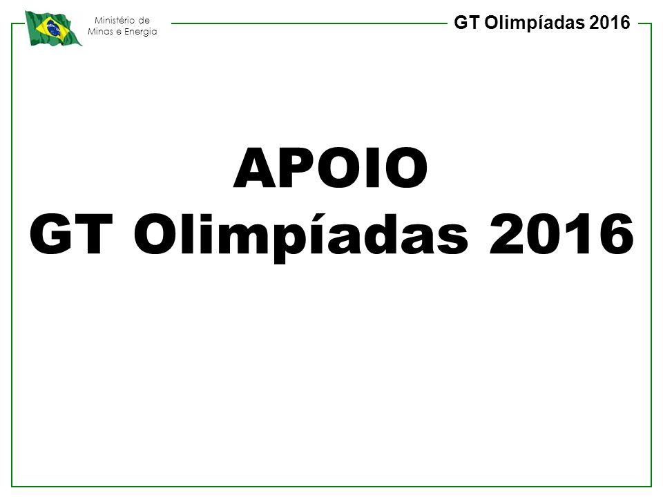 GT Olimpíadas 2016 APOIO GT Olimpíadas 2016