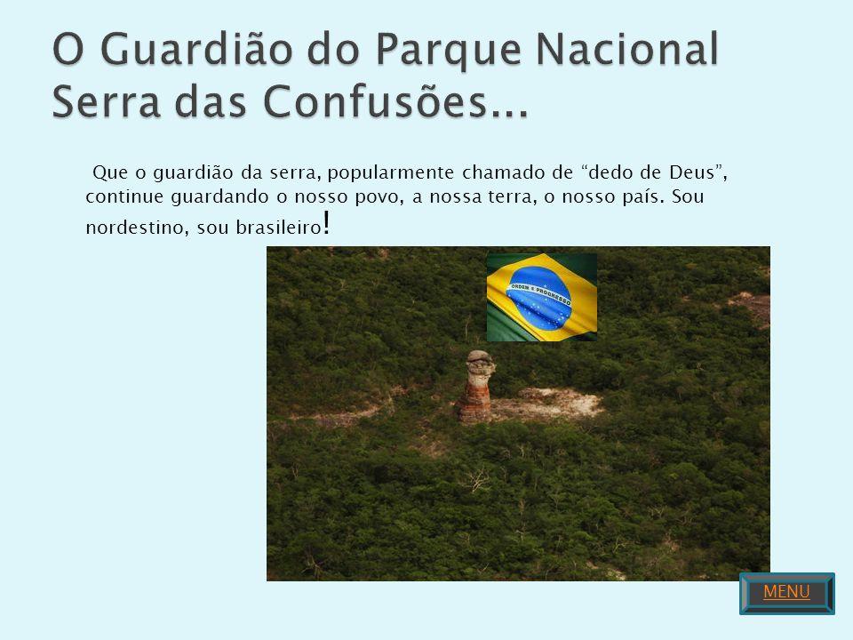 O Guardião do Parque Nacional Serra das Confusões...