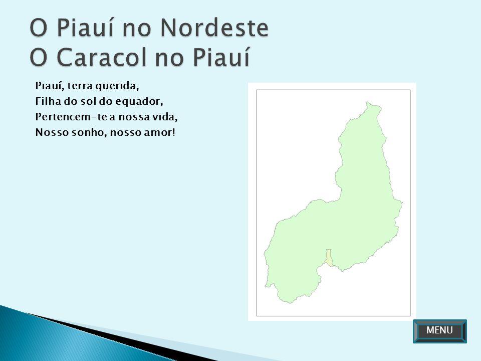 O Piauí no Nordeste O Caracol no Piauí