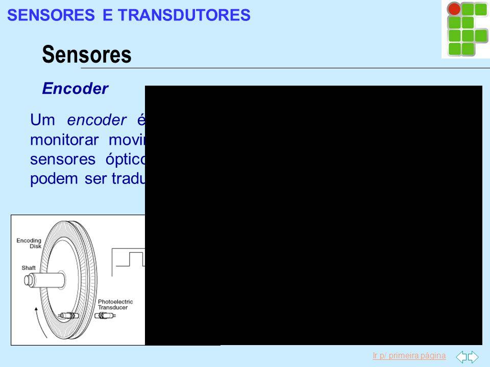 Sensores SENSORES E TRANSDUTORES Encoder