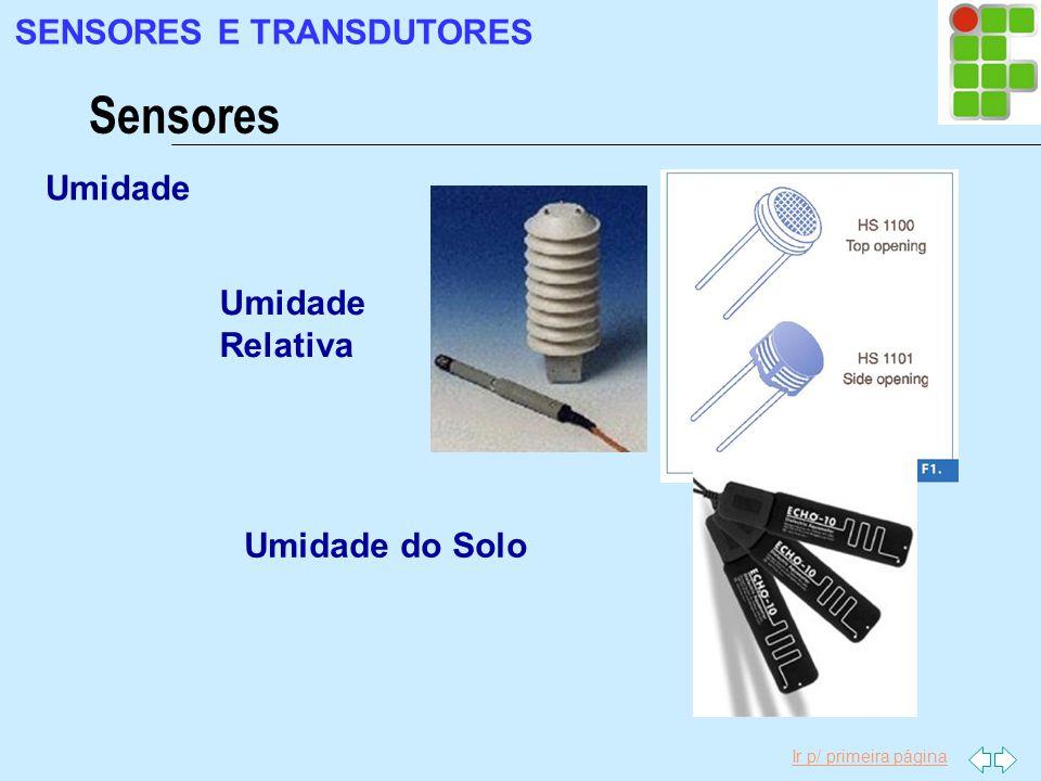 Sensores SENSORES E TRANSDUTORES Umidade Umidade Relativa