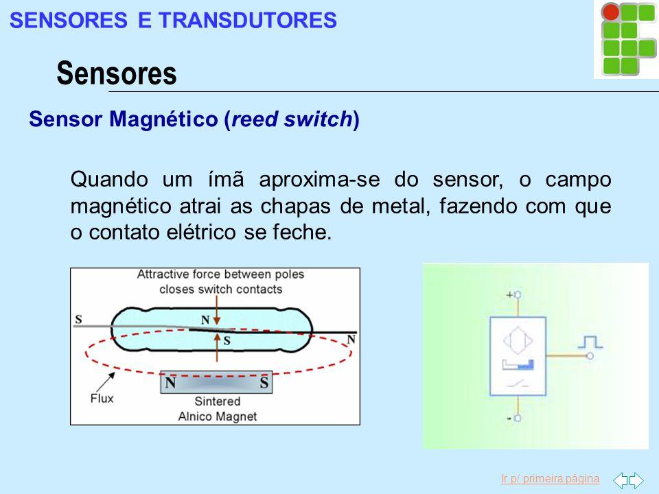 Sensores SENSORES E TRANSDUTORES