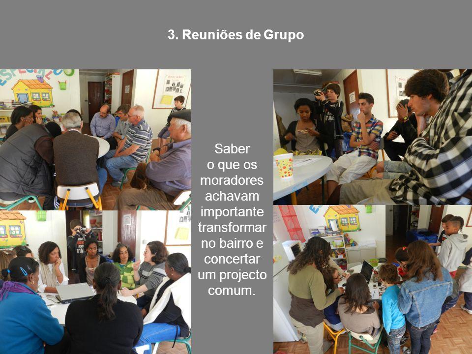 3. Reuniões de Grupo Saber.
