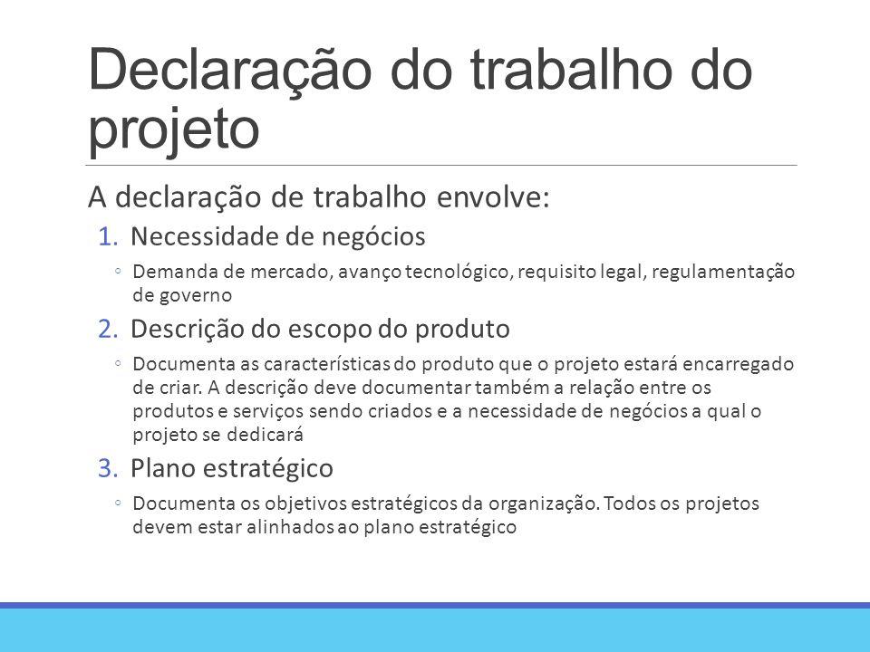 Declaração do trabalho do projeto