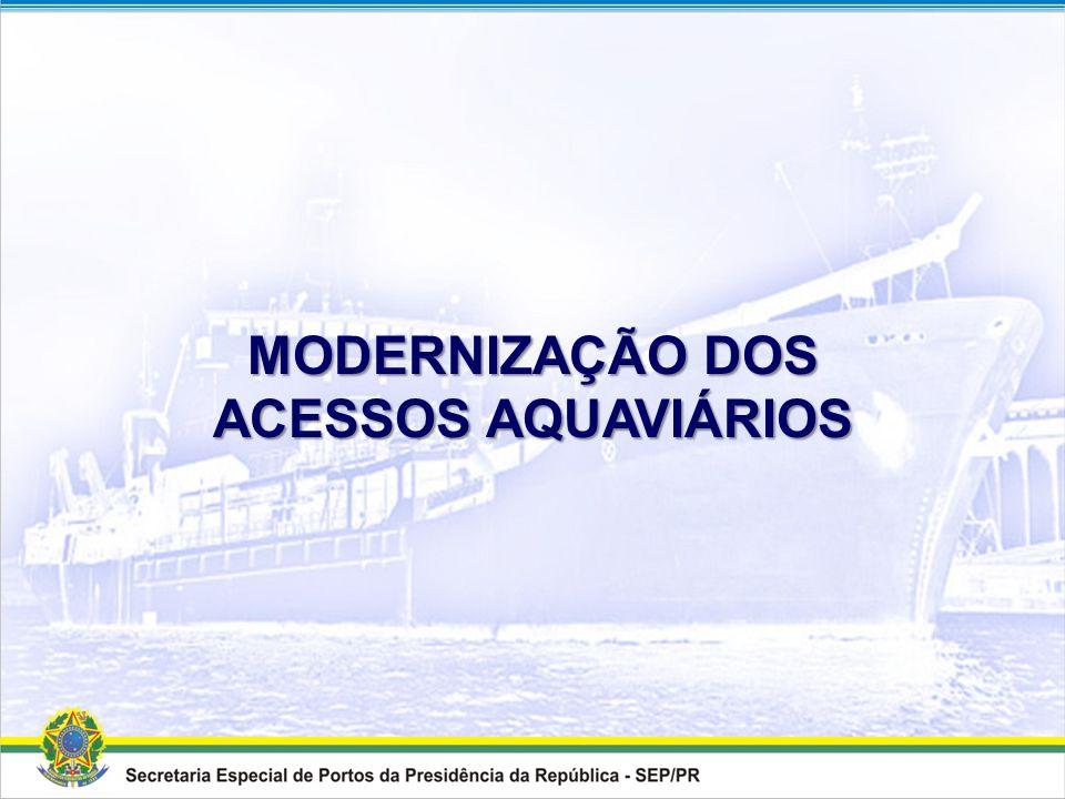 MODERNIZAÇÃO DOS ACESSOS AQUAVIÁRIOS