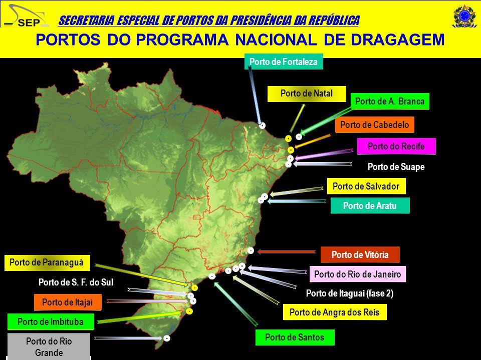 PORTOS DO PROGRAMA NACIONAL DE DRAGAGEM Porto de Itaguaí (fase 2)