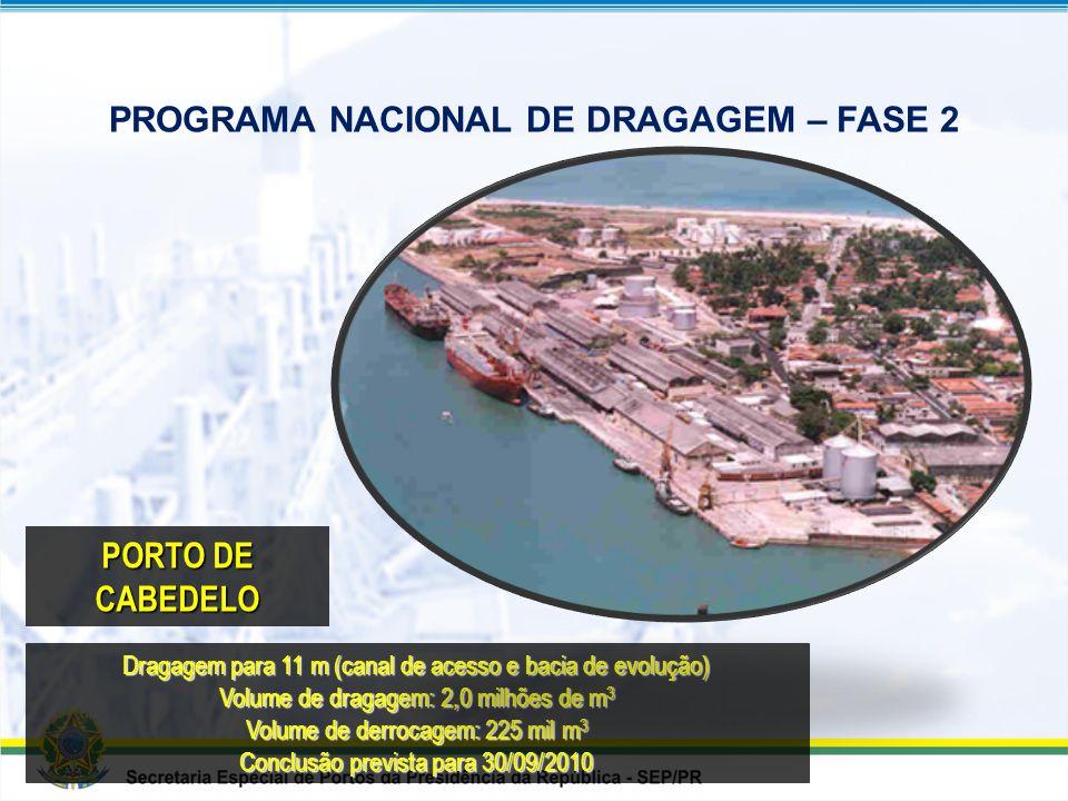 PROGRAMA NACIONAL DE DRAGAGEM – FASE 2