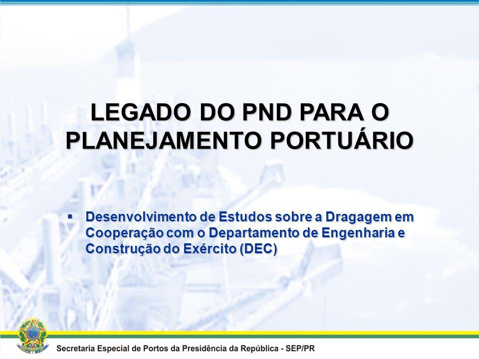 LEGADO DO PND PARA O PLANEJAMENTO PORTUÁRIO