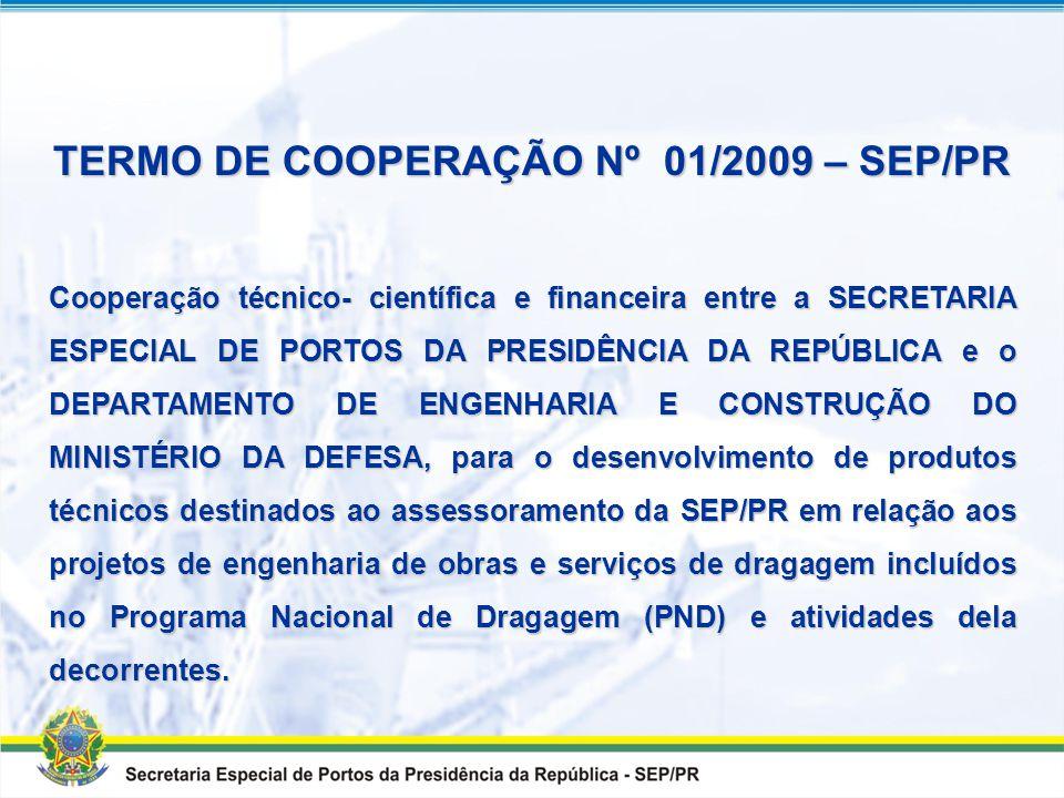 TERMO DE COOPERAÇÃO Nº 01/2009 – SEP/PR