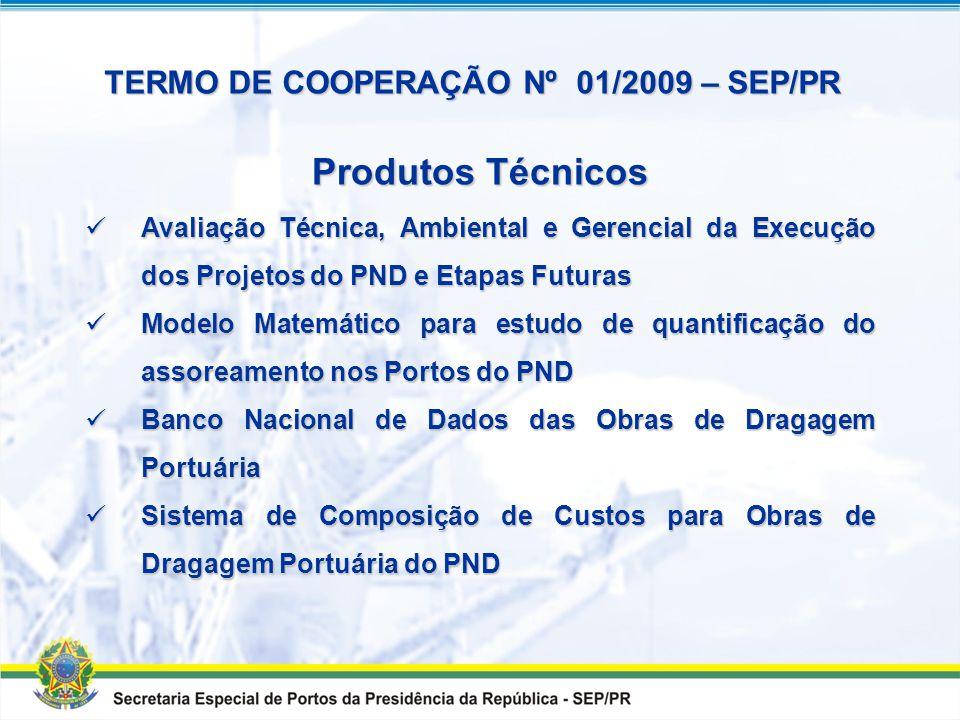 Produtos Técnicos TERMO DE COOPERAÇÃO Nº 01/2009 – SEP/PR