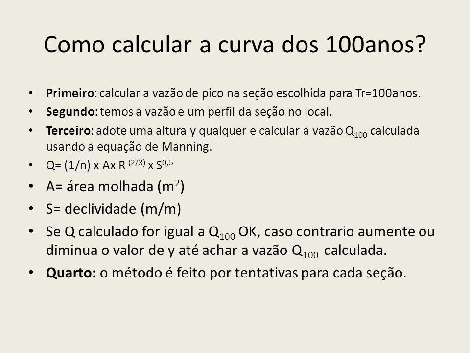 Como calcular a curva dos 100anos