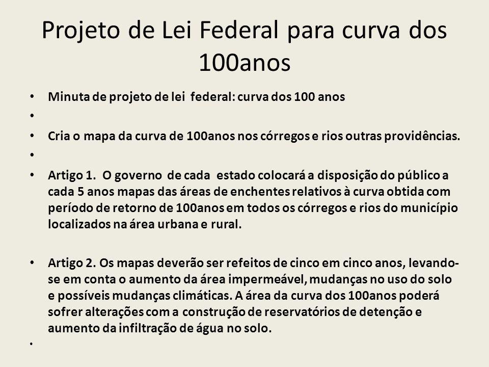 Projeto de Lei Federal para curva dos 100anos