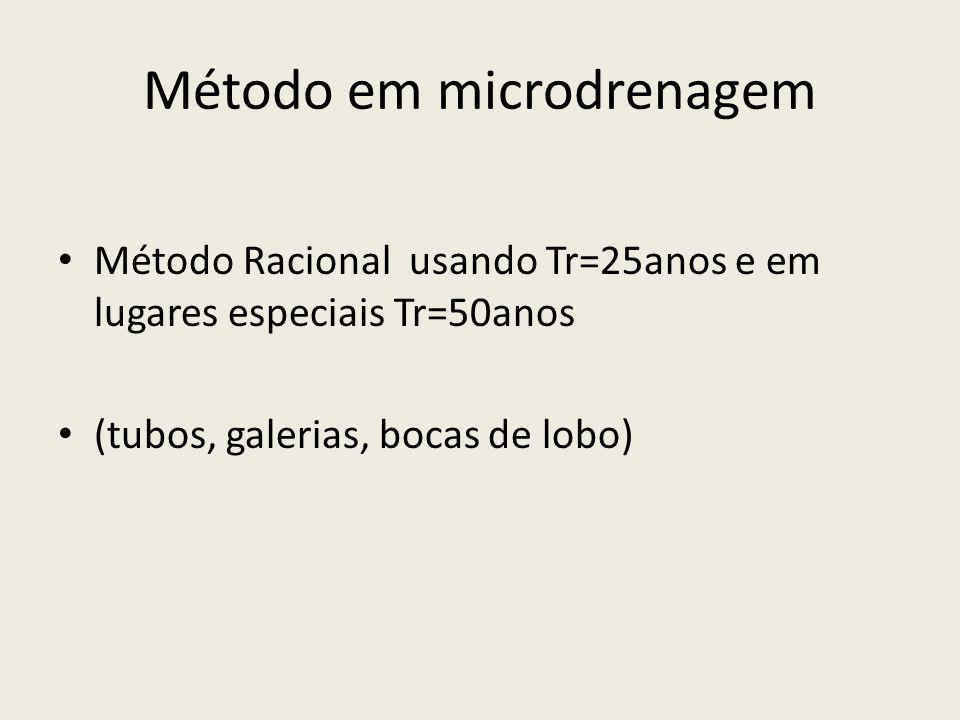 Método em microdrenagem