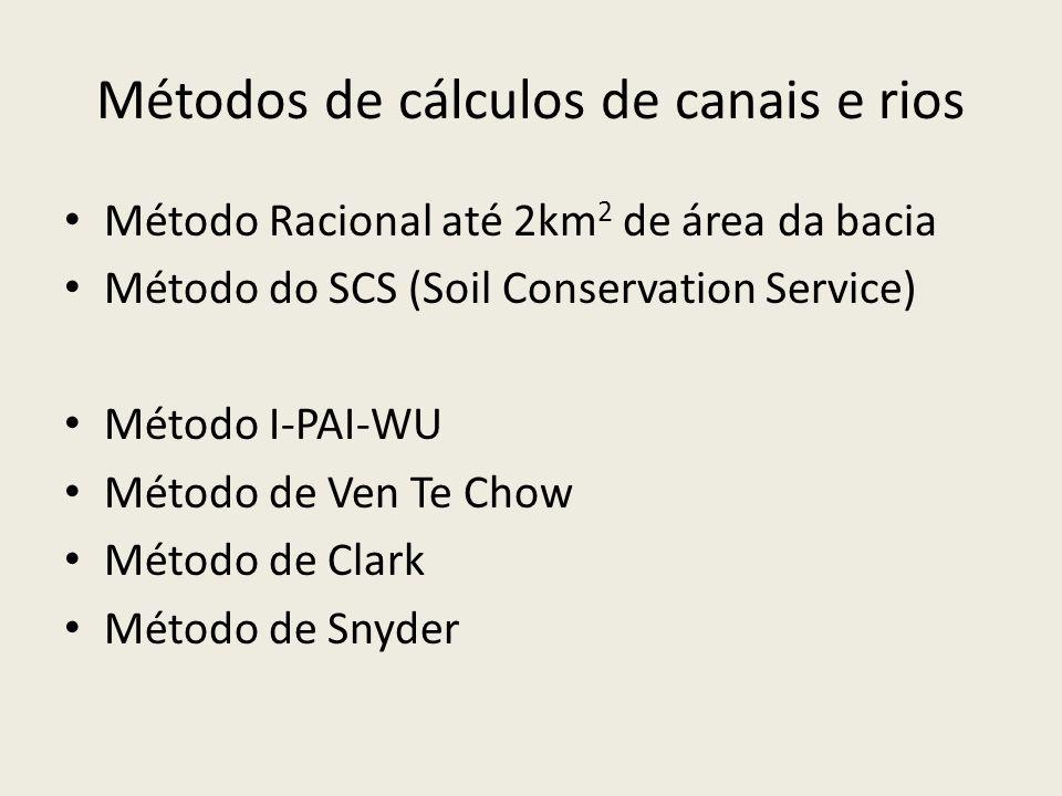 Métodos de cálculos de canais e rios