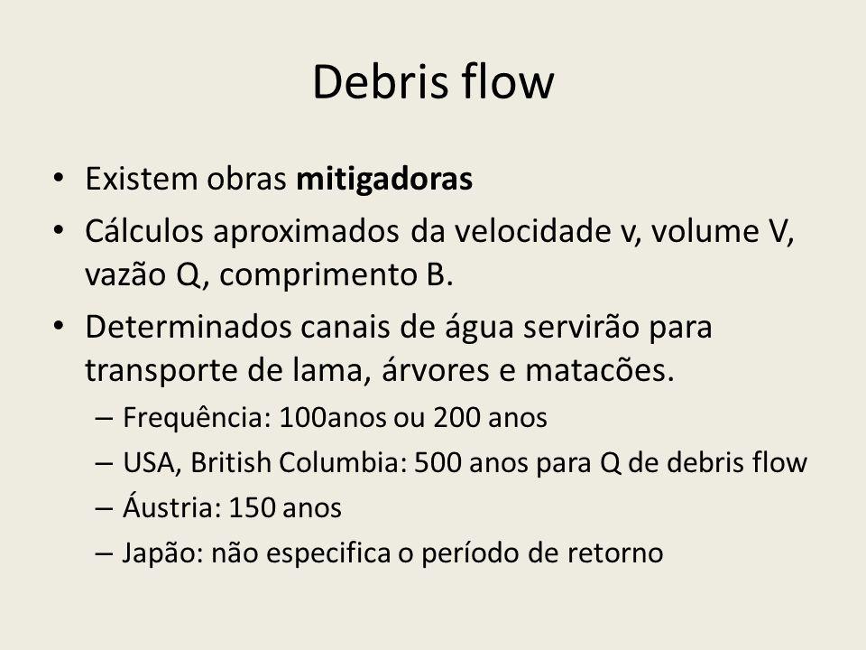 Debris flow Existem obras mitigadoras