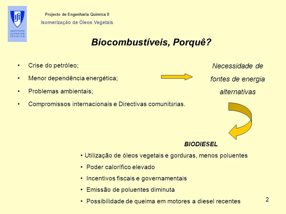 Biocombustíveis, Porquê