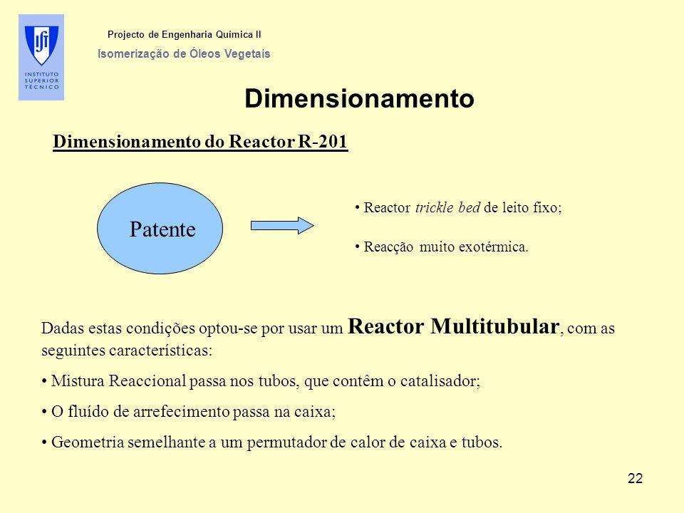 Projecto de Engenharia Química II Isomerização de Óleos Vegetais