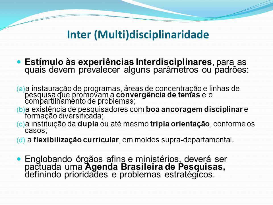 Inter (Multi)disciplinaridade