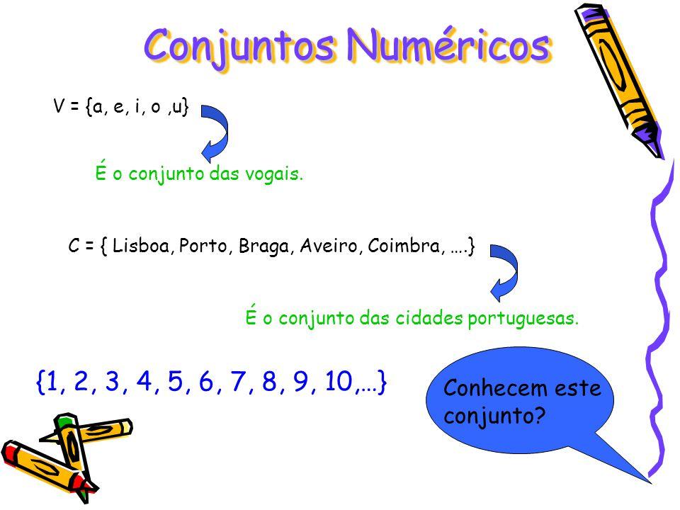 Conjuntos Numéricos {1, 2, 3, 4, 5, 6, 7, 8, 9, 10,…}