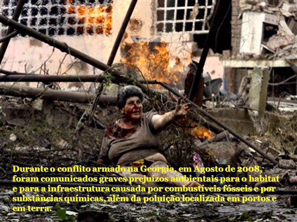 Durante o conflito armado na Georgia, em Agosto de 2008, foram comunicados graves prejuízos ambientais para o habitat e para a infraestrutura causada por combustíveis fósseis e por substâncias químicas, além da poluição localizada em portos e em terra.