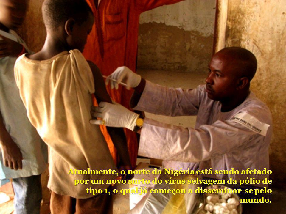 Atualmente, o norte da Nigéria está sendo afetado por um novo surto do vírus selvagem da pólio de tipo 1, o qual já começou a disseminar-se pelo mundo.