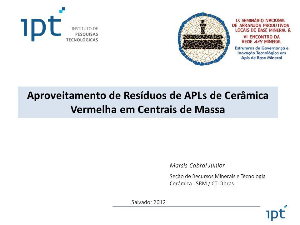 Aproveitamento de Resíduos de APLs de Cerâmica Vermelha em Centrais de Massa