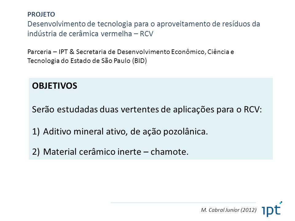 Serão estudadas duas vertentes de aplicações para o RCV: