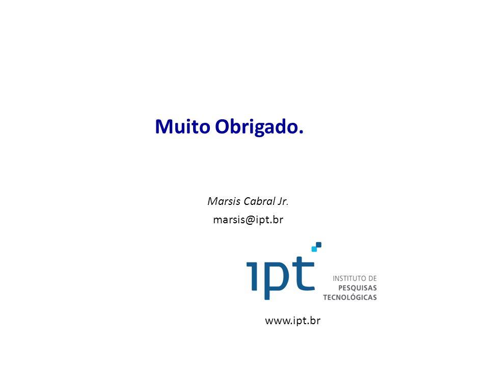 Muito Obrigado. Marsis Cabral Jr. marsis@ipt.br www.ipt.br