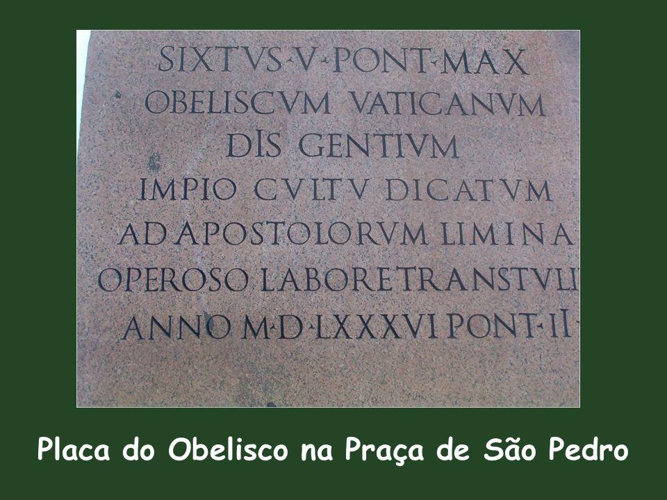 Placa do Obelisco na Praça de São Pedro