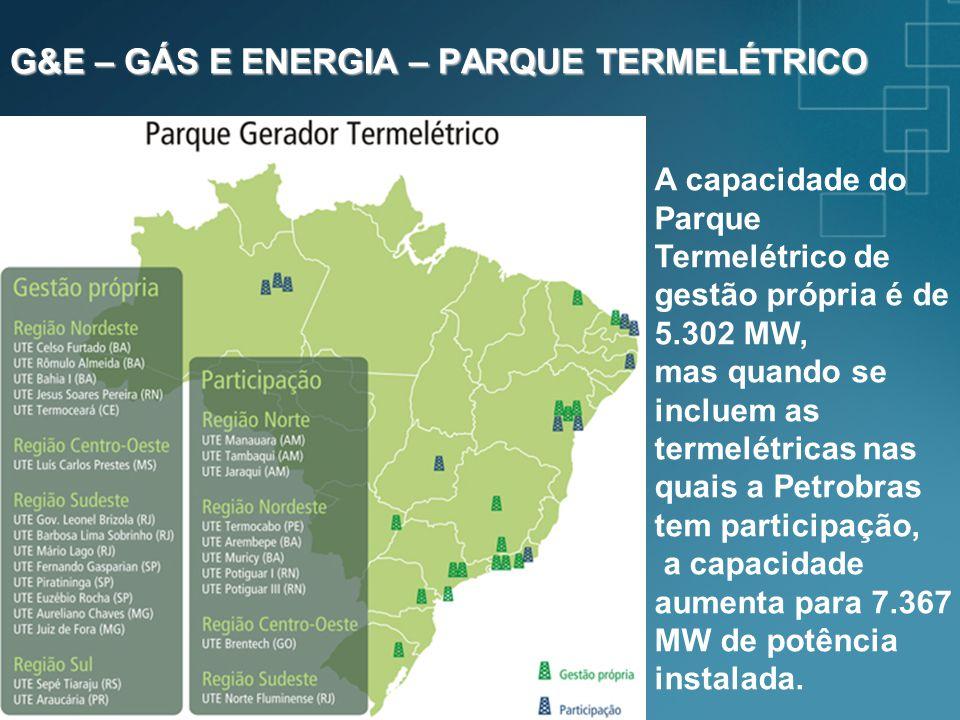 G&E – GÁS E ENERGIA – PARQUE TERMELÉTRICO