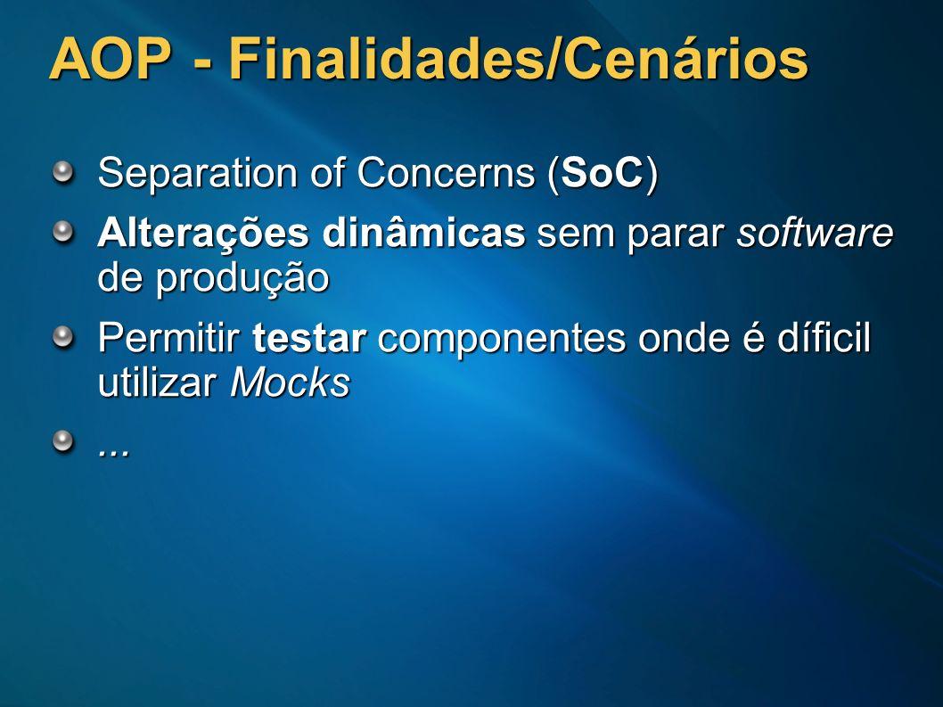 AOP - Finalidades/Cenários