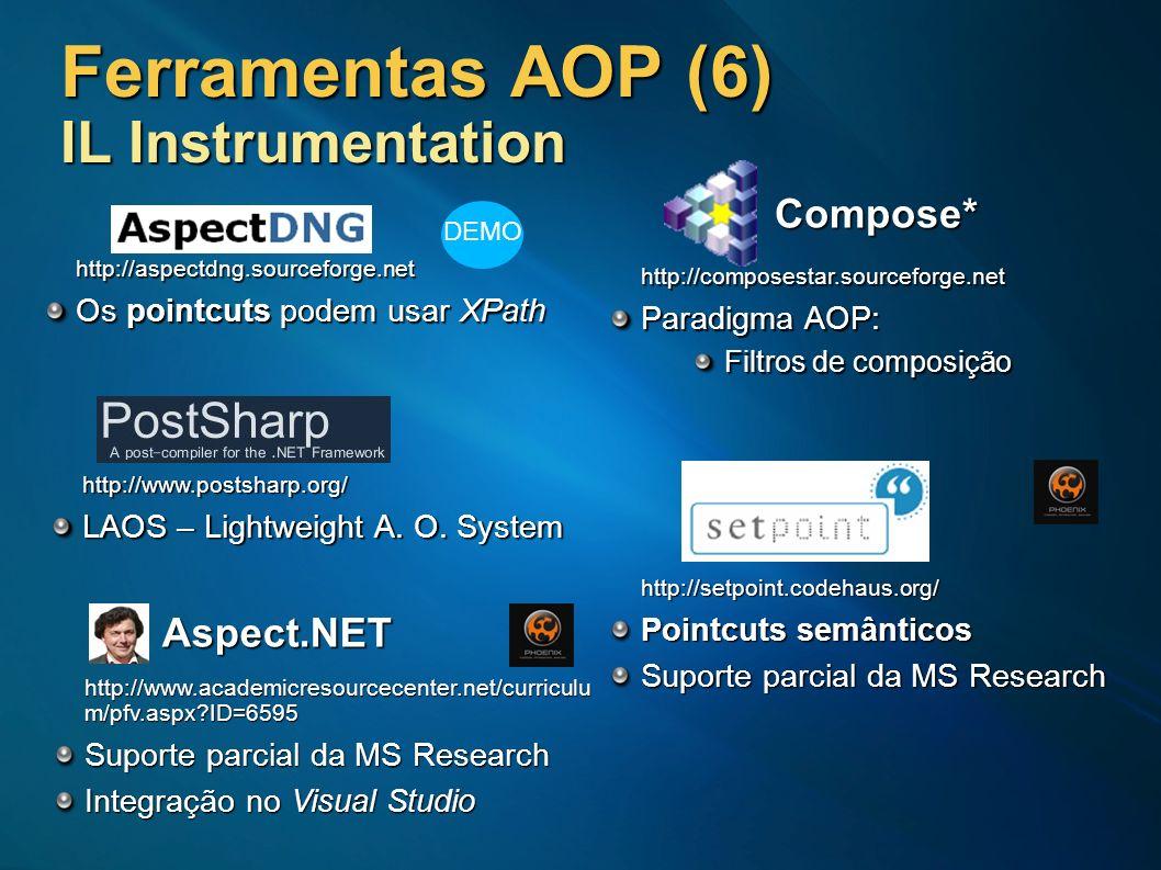 Ferramentas AOP (6) IL Instrumentation