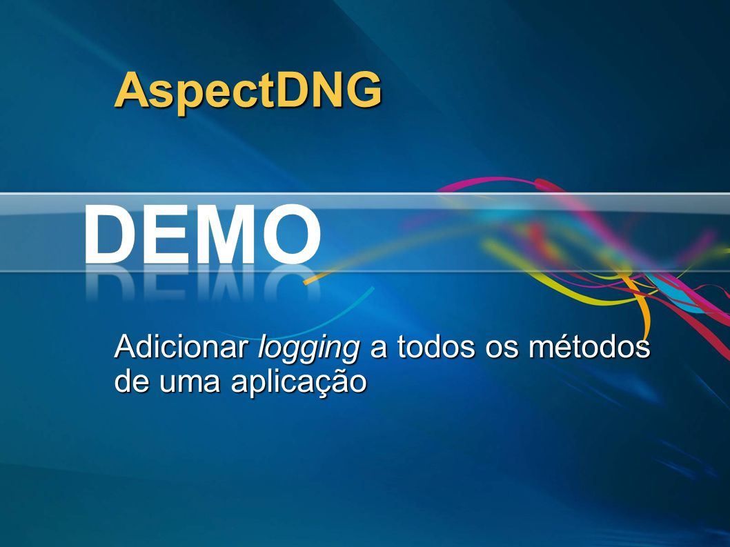 Adicionar logging a todos os métodos de uma aplicação