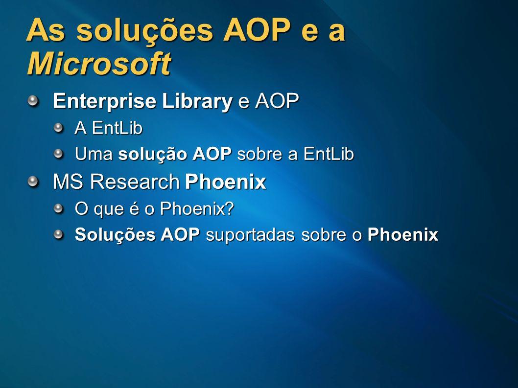 As soluções AOP e a Microsoft