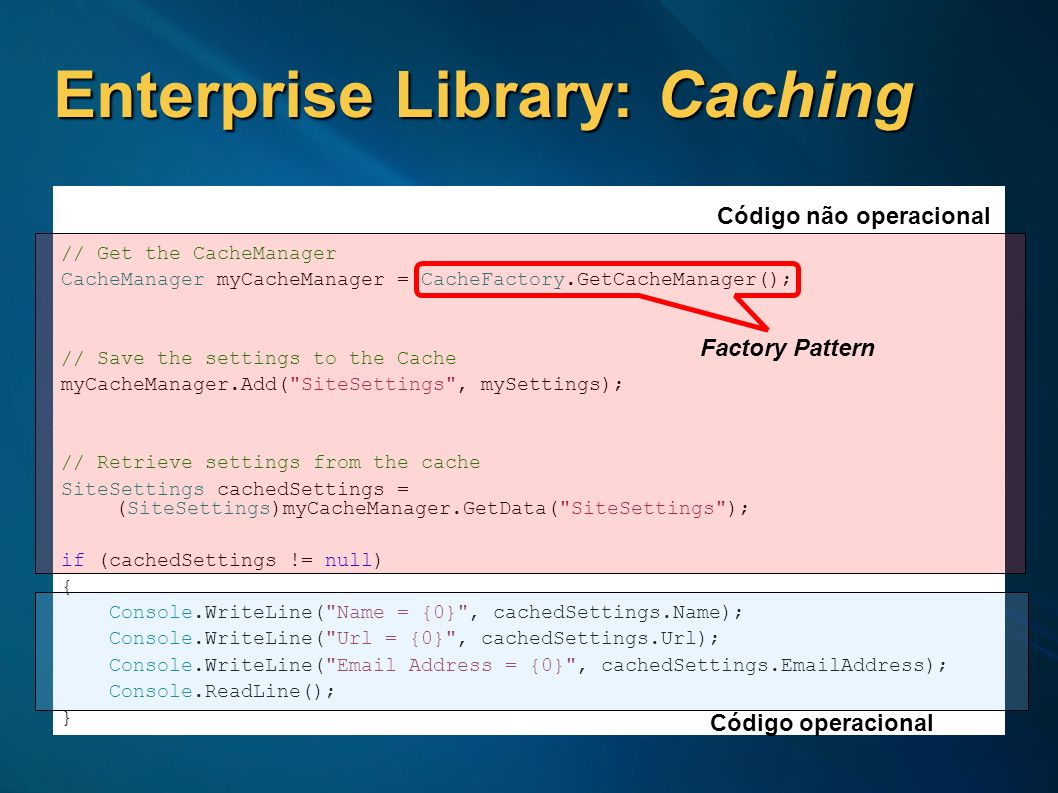 Enterprise Library: Caching