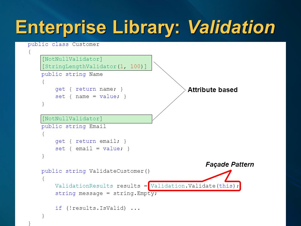 Enterprise Library: Validation
