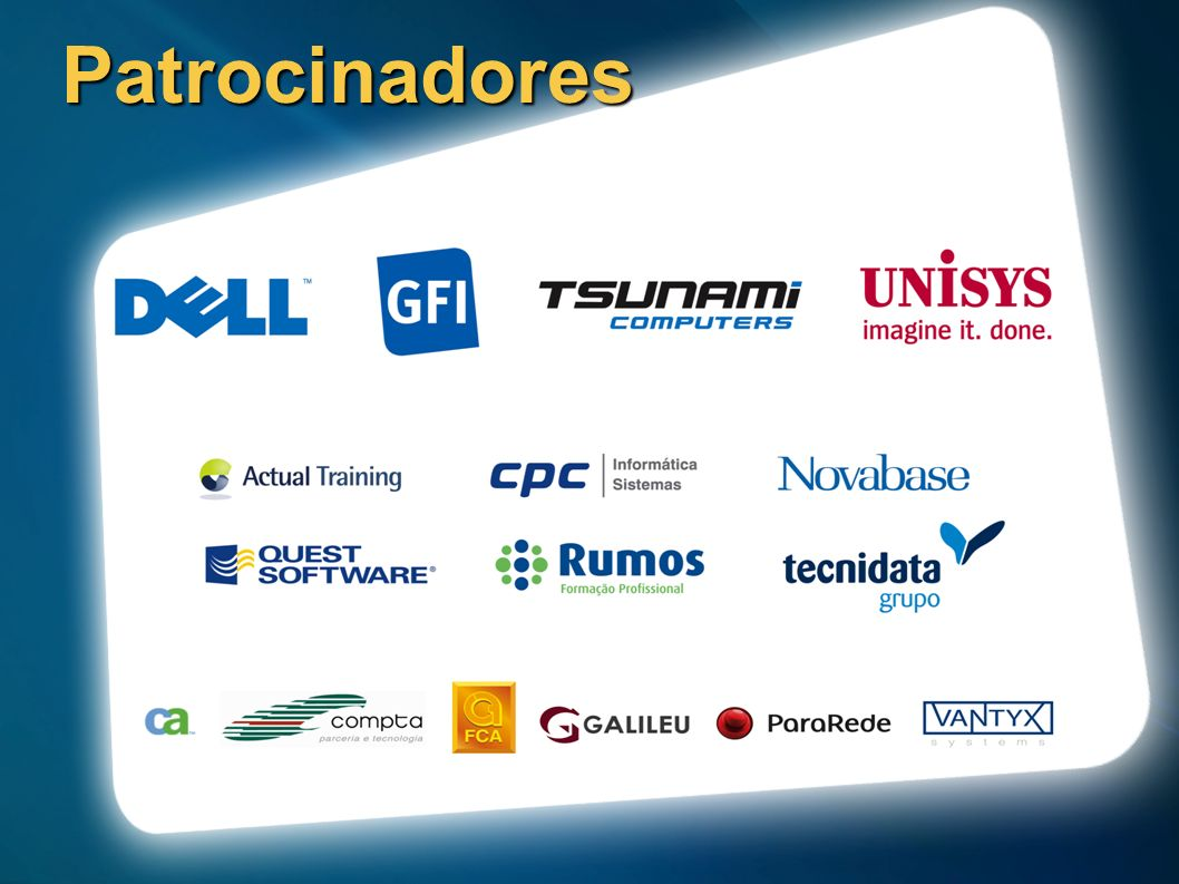 23/03/2017 12:15 AMPatrocinadores. 3. ©2005 Microsoft Corporation. All rights reserved.